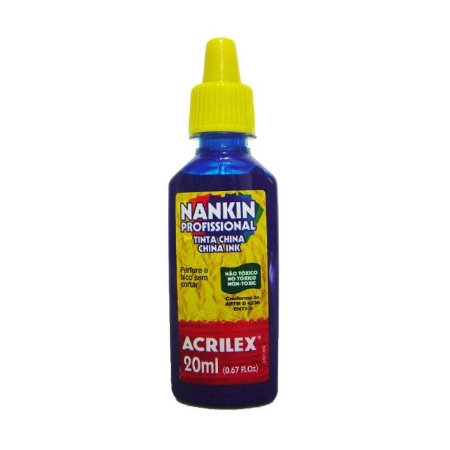 Tinta Nankin Acrilex 20 ml - 501 Azul Turquesa