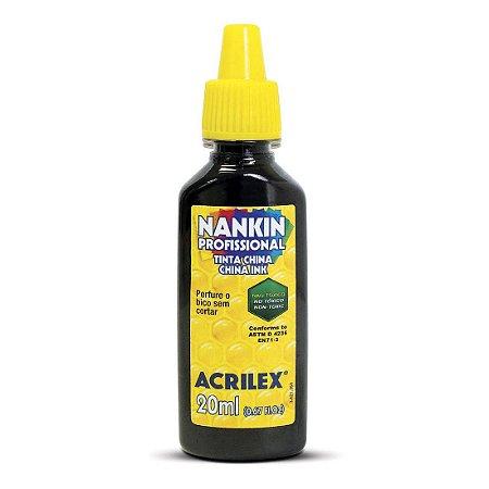 Tinta Nankin Acrilex 20 ml - 520 Preto
