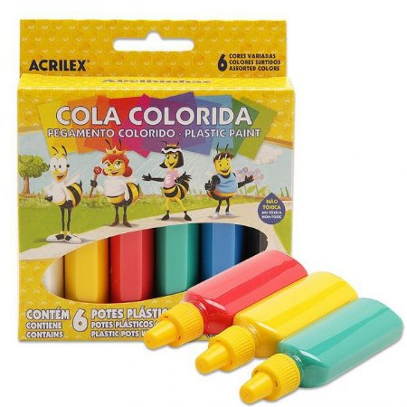 Cola Colorida Plastic Paint - 06 cores