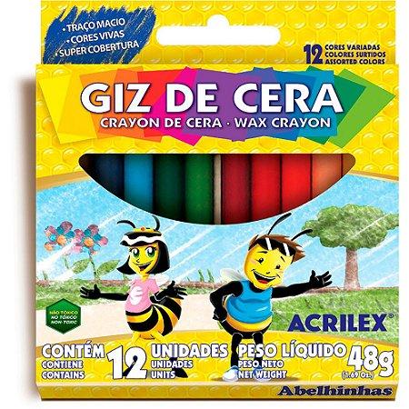 Giz de Cera - 12 Cores