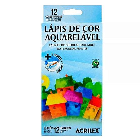 Lápis de Cor Aquarelável - 12 Cores