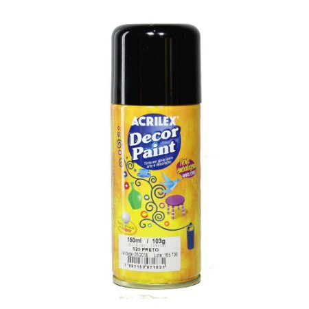 Decor Paint Spray 520 Preto - 150ml