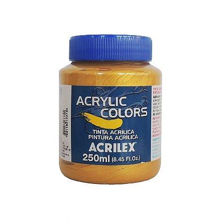 Tinta Acrilica Acrilex 250ml Grupo IV 385 - Ouro Iridescente