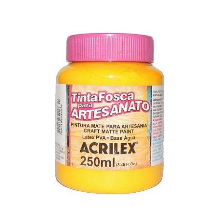 Tinta Fosca para Artesanato Acrilex 250ML - 505 Amarelo Ouro