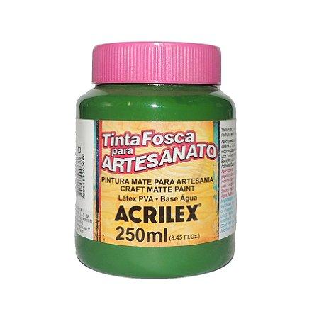 Tinta Fosca para Artesanato Acrilex 250ML - 513 Verde Musgo