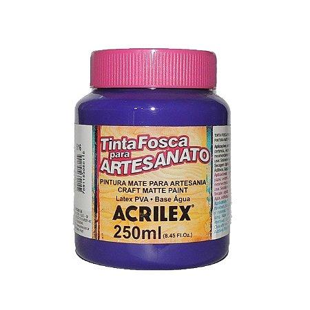 Tinta Fosca para Artesanato Acrilex 250ML - 516 Violeta