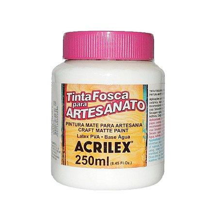 Tinta Fosca para Artesanato Acrilex 250ML - 519 Branco