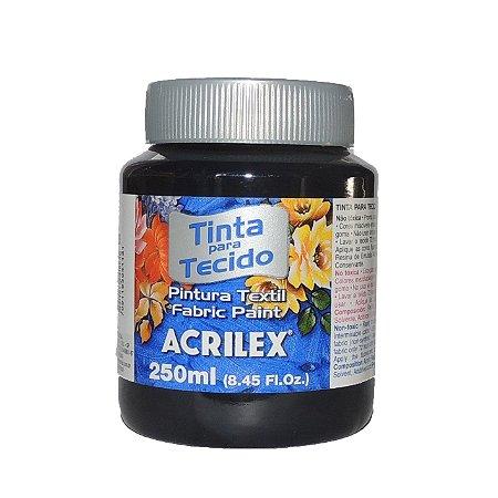 Tinta Para Tecido Acrilex 250ML - 520 Preto