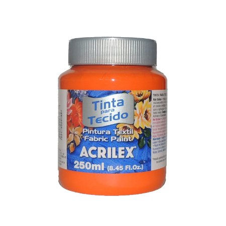 Tinta Para Tecido Acrilex 250ML - 517 Laranja