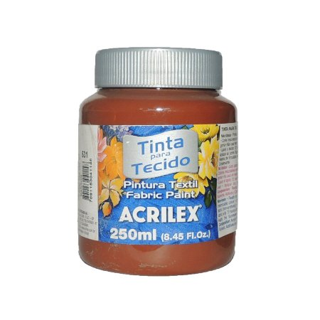 Tinta Para Tecido Acrilex 250ML - 531 Marrom