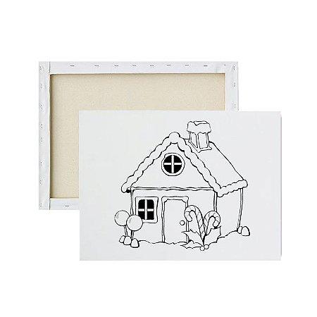 Tela para pintura infantil - Casa Adocicada