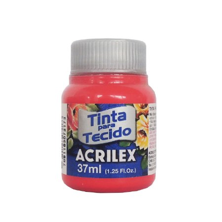 Tinta para Tecido Acrilex 37ml 800 Vermelho Bebe