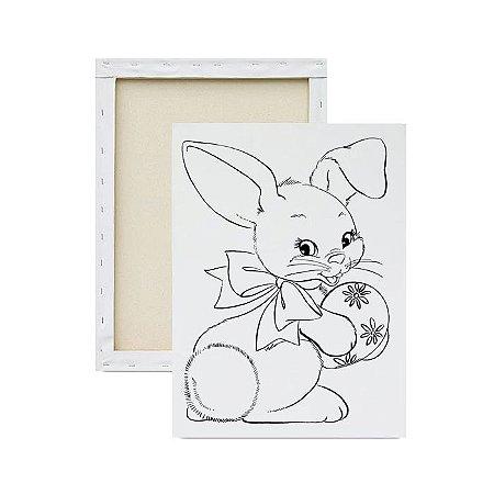 Tela para pintura infantil - Coelhinho e seu Presente
