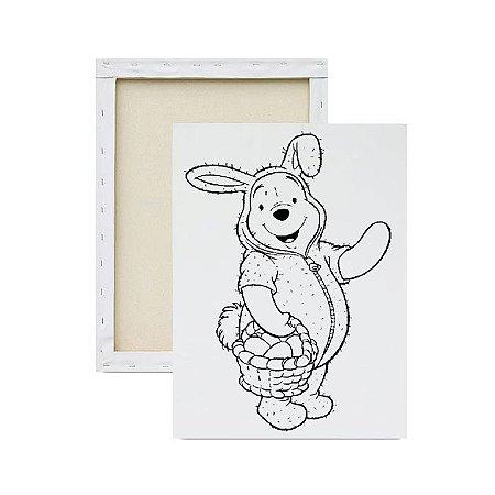 Tela para pintura infantil - Pooh Fantasiado