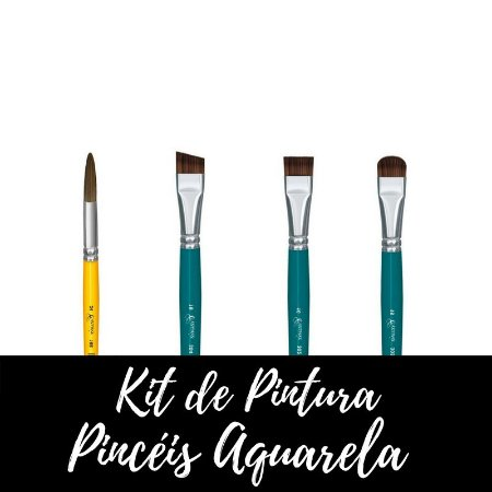 Kit de Pintura - Pincéis Aquarela