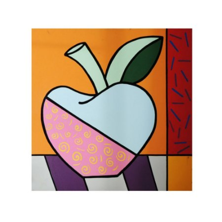 Quadro pintado à mão Pop Art - Maçã Verão 80x80