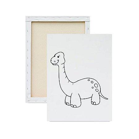 Tela para pintura infantil - Dinossauro