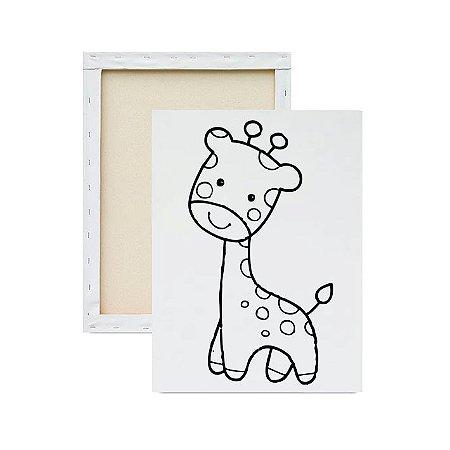 Tela para pintura infantil - Girafa