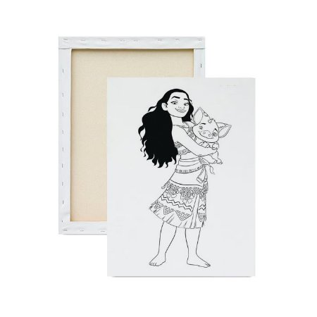 Tela para pintura infantil - Moana