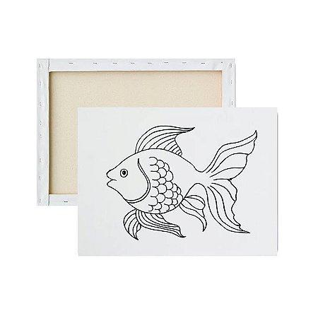 Tela para pintura infantil - Peixe