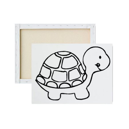 Tela para pintura infantil - Tartaruga