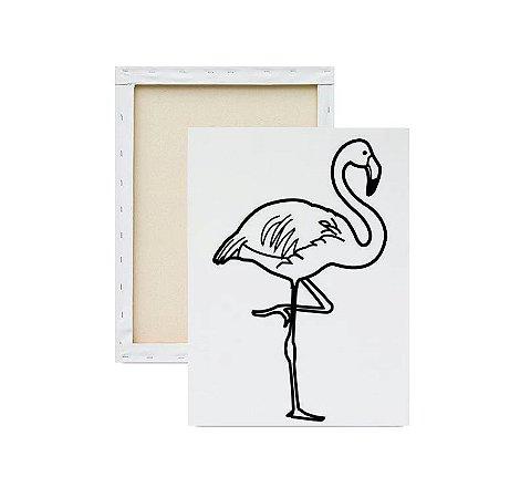 Tela para pintura infantil - Flamingo