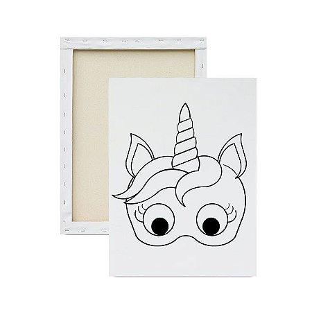 Tela para pintura infantil - Máscara Unicórnio