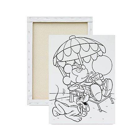 Tela para pintura infantil - Mickey na Praia