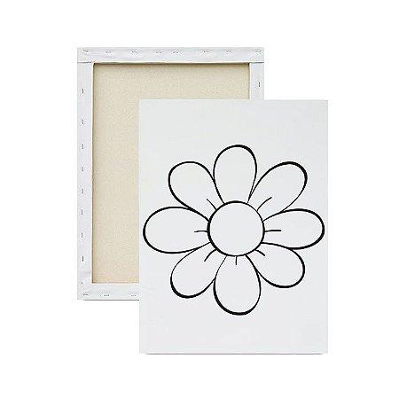 Tela Para Pintura Infantil - Flor Centralizada