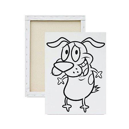 Tela para pintura infantil - Coragem o Cão Covarde