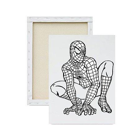 Tela Para Pintura Infantil - Homem Aranha