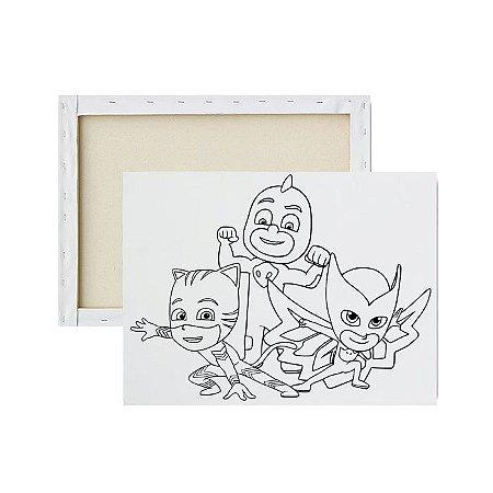 Tela Para Pintura Infantil - Heróis de Pijama