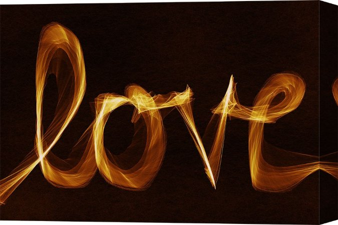 Quadro Decorativo Frases Love