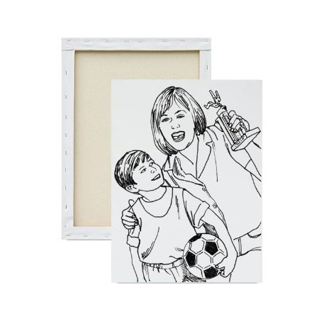 Tela para pintura infantil - Mamãe e seu Campeão
