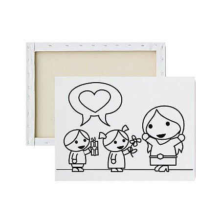 Tela para pintura infantil - Demonstração de Amor