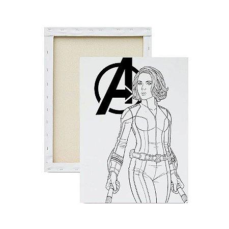 Tela Para Pintura Infantil - Viuvá Negra Avengers