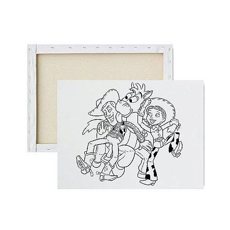 Tela Para Pintura Infantil - Woody, Bala na Agulha e Jessie