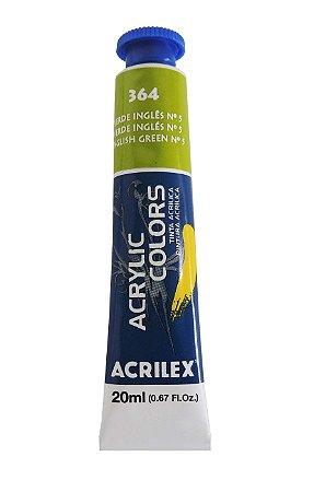 Tinta Acrilica Acrilex 20ml 364 - Verde Inglês Nº5