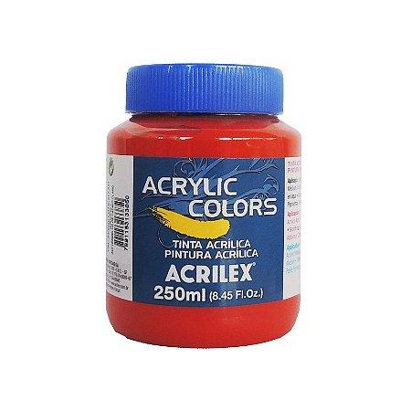 Tinta Acrilica Acrilex 250ml Grupo 1 343 - Vermelho de Cadmio Claro