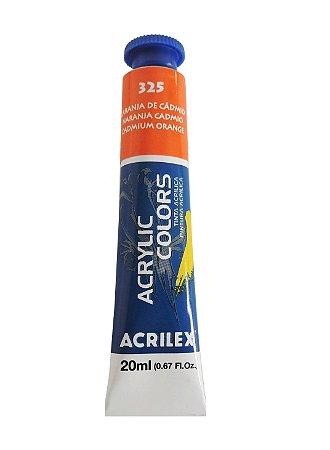 Tinta Acrilica Acrilex 20ml 325 - Laranja de Cadmio