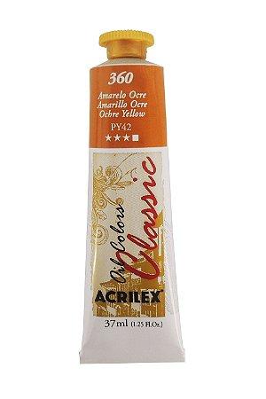 Tinta Oleo Acrilex 37ML 360 - Amarelo Ocre