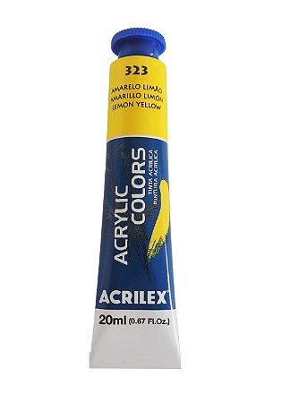 Tinta Acrilica Acrilex 20ml 323 - Amarelo Limão