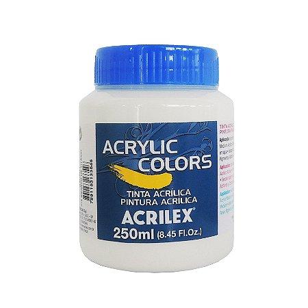 Tinta Acrilica Acrilex 250ml Grupo 1-319 Branco Titanio