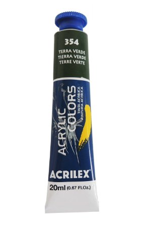 Tinta Acrilica Acrilex 20ml 354 - Terra Verde