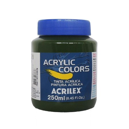 Tinta Acrilica Acrilex 250ml Grupo 1 334 - Verde Oliva