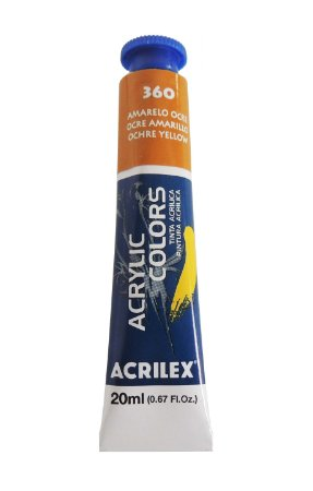 Tinta Acrilica Acrilex 20ml 360 - Amarelo Ocre