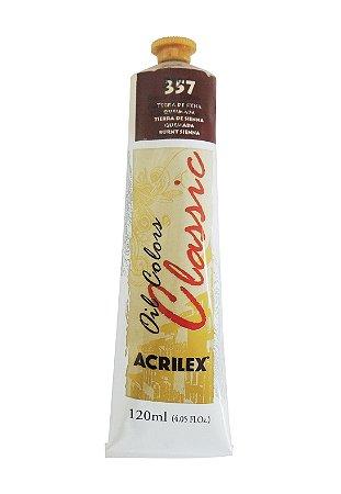 Tinta Oleo Acrilex 120 ml 357 - Terra de Siena Queimada