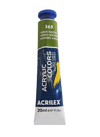 Tinta Acrilica Acrilex 20ml 365 - Verde Hooker
