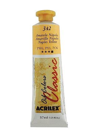 Tinta Oleo Acrilex 37ML 342 - Amarelo Napoles