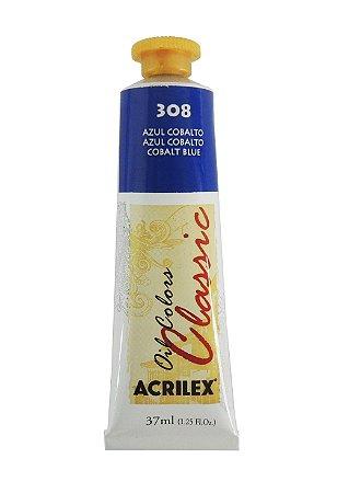 Tinta Oleo Acrilex 37ml 308 - Azul Cobalto